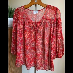 Pins and Needles Red Blouse